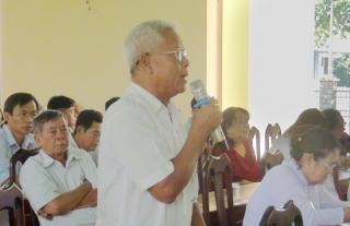 Đại biểu HĐND tiếp xúc với cử tri phường Trảng Bàng