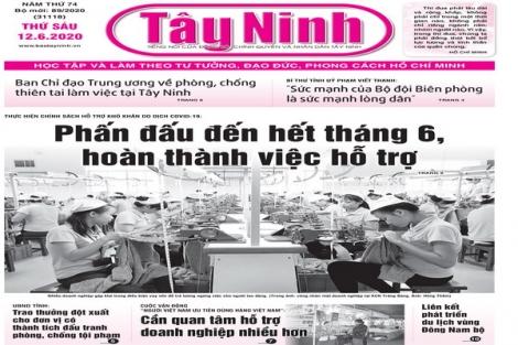 Điểm báo in Tây Ninh ngày 12.6.2020