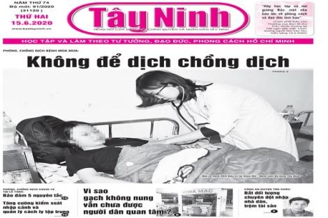 Điểm báo in Tây Ninh ngày 15.6.2020