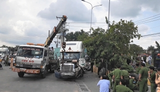 Y án sơ thẩm tài xế container ngủ gật gây tai nạn khiến 5 người chết ở Trảng Bàng
