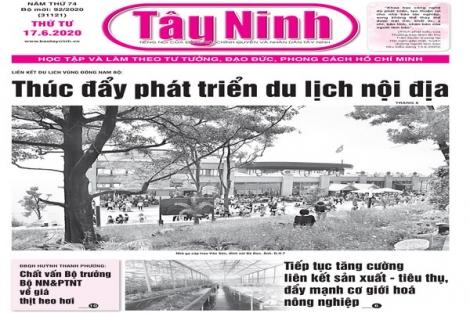 Điểm báo in Tây Ninh ngày 17.6.2020