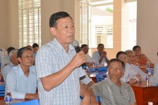 Đại biểu HĐND tỉnh, huyện tiếp xúc với cử tri các xã Tân Đông, Suối Dây, Tân Hòa và Suối Ngô thuộc huyện Tân Châu