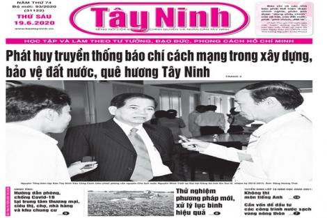 Điểm báo in Tây Ninh ngày 19.6.2020