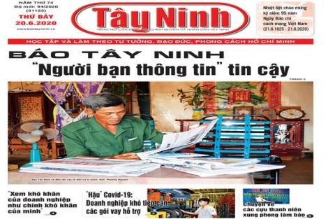 Điểm báo in Tây Ninh ngày 20.6.2020