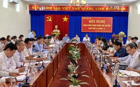 BCH Đảng bộ huyện Châu Thành họp phiên định kỳ lần thứ 24