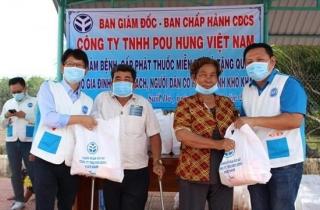 Công ty Pou Hung phối hợp cùng Bệnh viện Phục hồi chức năng khám bệnh, tặng quà tại xã Suối Đá