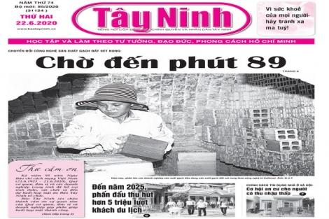 Điểm báo in Tây Ninh ngày 22.6.2020
