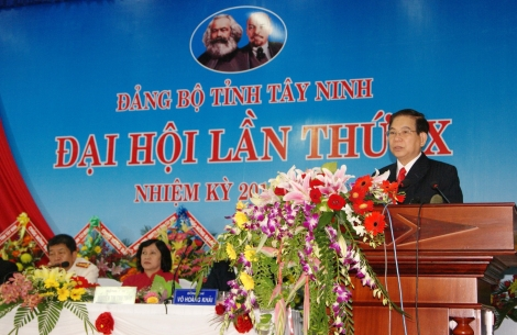 Đại hội đại biểu Đảng bộ tỉnh Tây Ninh lần thứ IX, nhiệm kỳ 2010-2015: Khai thác tiềm năng, huy động mọi nguồn lực, thúc đẩy kinh tế - xã hội phát triển