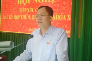Đại biểu Quốc hội tiếp xúc cử tri Hòa Thành