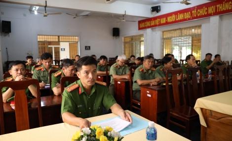 Khai giảng lớp tập huấn nghiệp vụ cho lãnh đạo Công an các đơn vị, địa phương