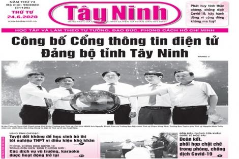 Điểm báo in Tây Ninh ngày 24.6.2020