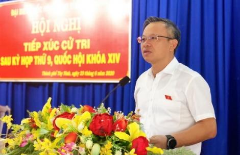 ĐBQH tiếp xúc cử tri TP.Tây Ninh và huyện Tân Châu