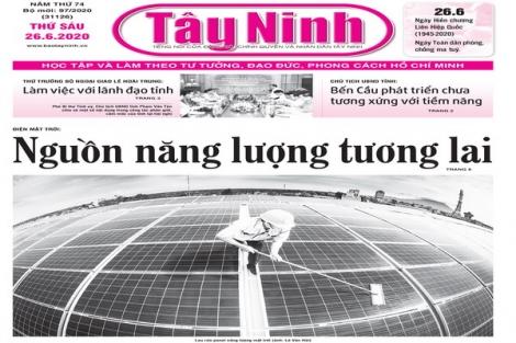 Điểm báo in Tây Ninh ngày 26.6.2020