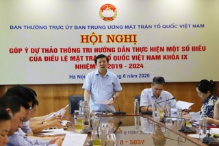 Góp ý dự thảo Thông tri hướng dẫn thực hiện Điều lệ MTTQ Việt Nam khoá IX, nhiệm kỳ 2019 - 2024
