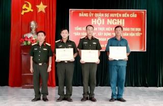 Đảng ủy Quân sự huyện Bến Cầu tổng kết phong trào thi đua giai đoạn 2016-2020