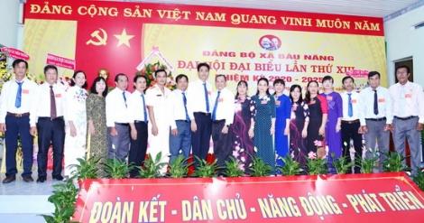 Đảng bộ xã Bàu Năng tổ chức thành công Đại hội đại biểu lần thứ XIII, nhiệm kỳ 2020-2025