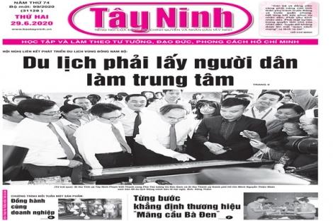 Điểm báo in Tây Ninh ngày 29.6.2020