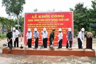 Tây Ninh: Khởi công xây dựng Đồn Biên phòng Suối Lam