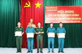 Gò Dầu sơ kết 5 năm thực hiện nhiệm vụ Phòng không nhân dân