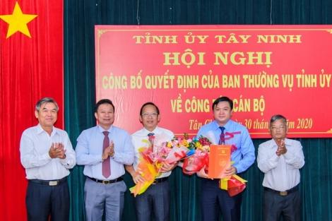Công bố Quyết định điều động, bổ nhiệm Bí thư Huyện ủy Tân Châu