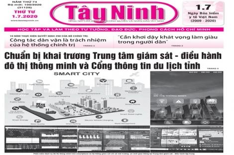 Điểm báo in Tây Ninh ngày 01.7.2020