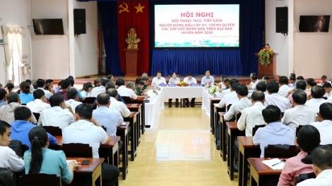Lãnh đạo huyện Gò Dầu đối thoại trực tiếp với nhân dân trên địa bàn huyện
