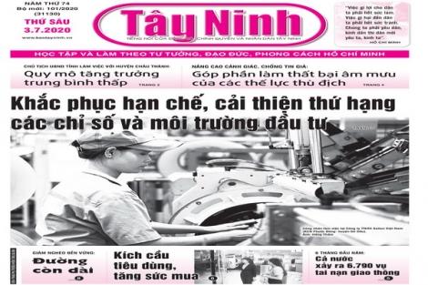 Điểm báo in Tây Ninh ngày 03.7.2020