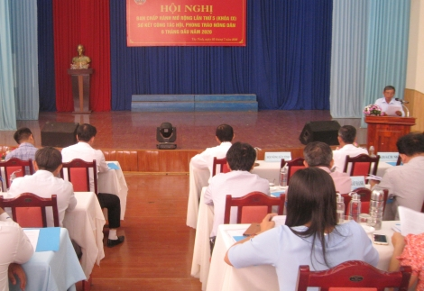 Hội Nông dân tỉnh sơ kết công tác hội và phong trào nông dân 6 tháng đầu năm 2020