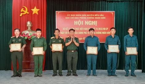 Bến Cầu sơ kết 05 năm thực hiện quy định của Chính phủ về phòng không nhân dân