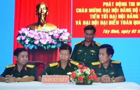 Phát động thi đua chào mừng Đại hội Đảng bộ quân sự tỉnh