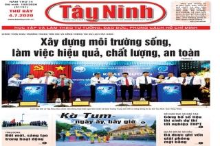 Điểm báo in Tây Ninh ngày 04.7.2020