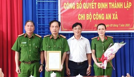 Thành lập Chi bộ Công an xã Bình Minh