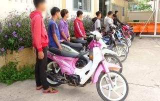 CATX.Hòa Thành: Ngăn chặn nhóm thanh niên tụ tập đua xe trái phép