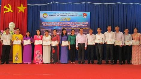 TP.Tây Ninh: Tuyên dương, khen thưởng học sinh giỏi và giáo viên bồi dưỡng học sinh giỏi