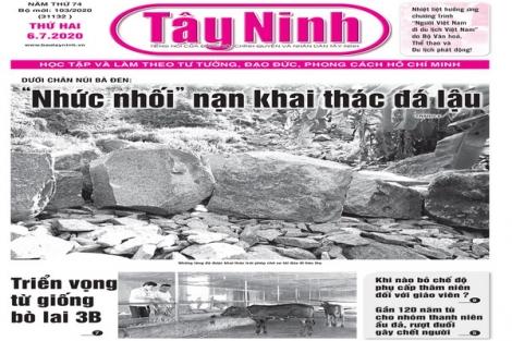 Điểm báo in Tây Ninh ngày 06.7.2020