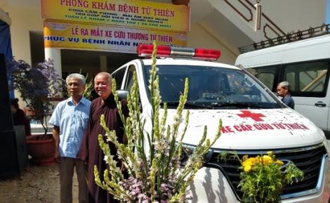Chùa Cẩm Phong tiếp nhận xe cấp cứu miễn phí cho người nghèo