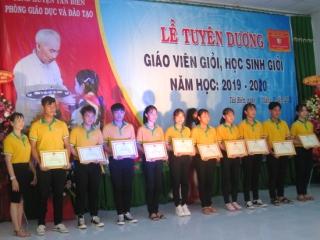 Tân Biên: Tuyên dương giáo viên dạy giỏi và học sinh giỏi năm học 2019-2020
