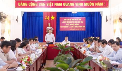 UBND tỉnh làm việc với huyện Dương Minh Châu
