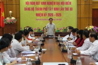 Hội nghị rút kinh nghiệm Đại hội điểm Đảng bộ thành phố Tây Ninh lần thứ XII, nhiệm kỳ 2020-2025