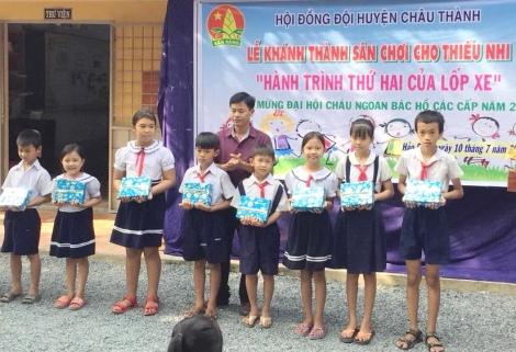 Huyện Châu Thành: Khánh thành sân chơi thiếu nhi tại trường Tiểu học Hảo Đước A