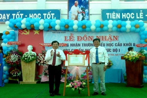 Trường Tiểu học Cầu Khởi B đạt chuẩn quốc gia
