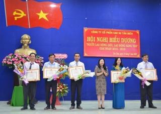 Công ty CP cao su Tân Biên: Biểu dương người lao động giỏi, lao động sáng tạo