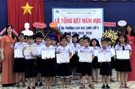 Trường TH Võ Thị Sáu: Công nhận 256 học sinh hoàn thành chương trình Tiểu học