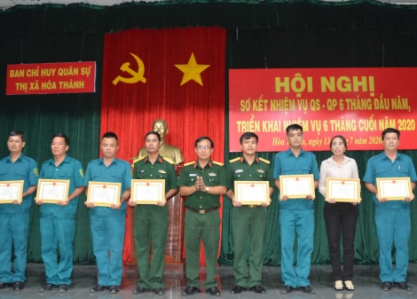 Hoà Thành: Hoàn thành tốt nhiệm vụ quân sự- quốc phòng 6 tháng đầu năm
