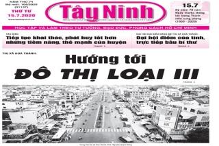 Điểm báo in Tây Ninh ngày 15.7.2020