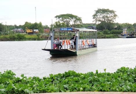 Đường đến bến phà Gò Nổi–An Bình: Thuận nhưng chưa tiện