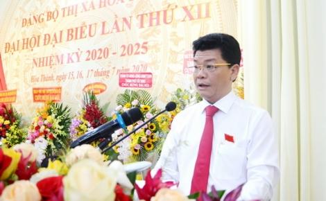 Bế mạc Đại hội đại biểu Đảng bộ Thị xã Hoà Thành lần thứ XII, nhiệm kỳ 2020-2025