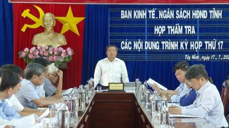Ban Kinh tế-Ngân sách thẩm tra nội dung trình kỳ họp thứ 17 HĐND tỉnh