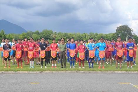 Khai mạc giải bóng đá nam Công an Tây Ninh