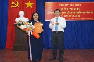 Bà Lê Thị Ngọc Yến giữ chức Phó Trưởng Ban Tổ chức Tỉnh uỷ